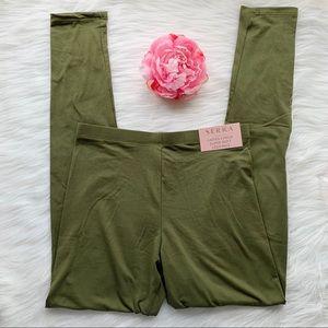 Serra super soft leggings, green, women size small